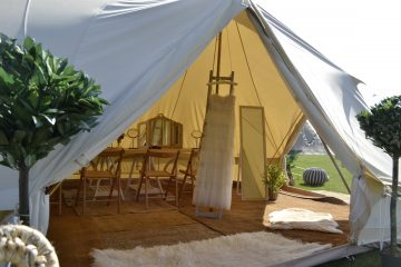 Bell Tent used for pampering at a wedding