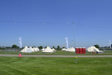 A Tinkers Bells Festival using bell tents