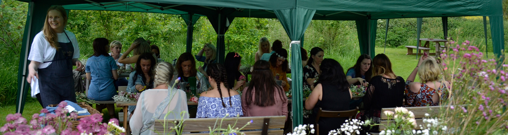 Large gathering of family and friends for a Hen Party at The Grange