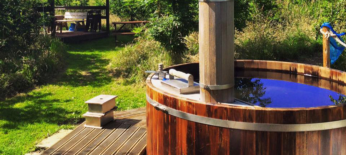 Hen Camps at The Grange with hot tub availability