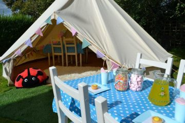 Children's party set up with Bell Tents