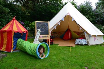 Bell Tent being used for a Children's Party