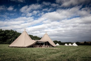 Bell Tent Tipi Wedding with an Emperor Tent