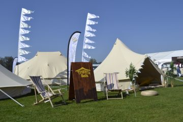 Hire bell tents for a festival with Tinkers Bells