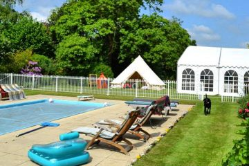 Bell tents used for corporate and sporting events