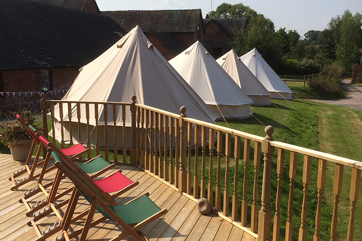 Sugnall Walled Garden Bell Tent Hire Service
