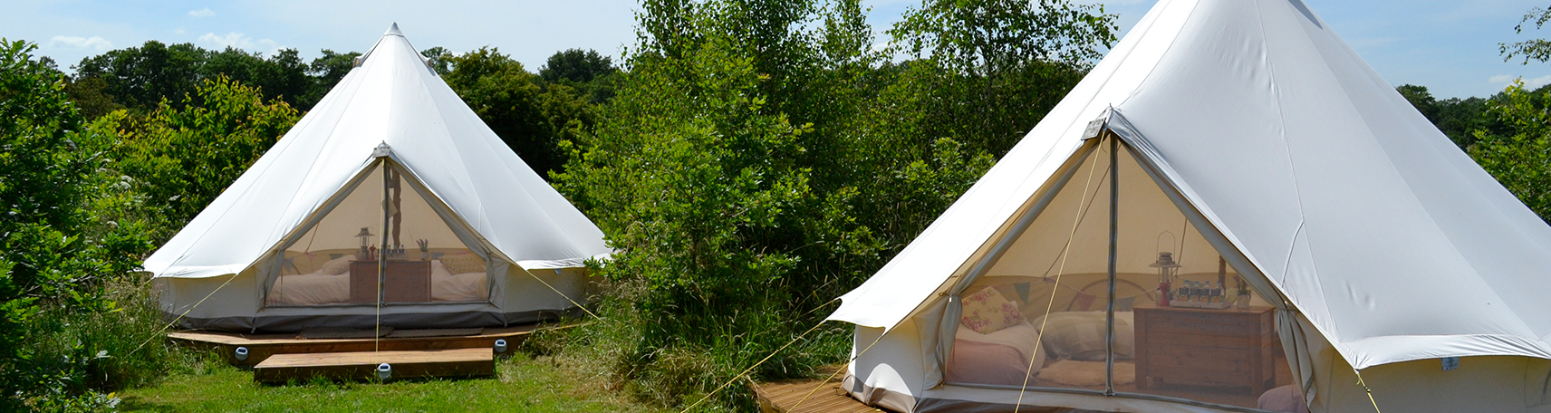 Luxurious Bell Tents for Hen Camps