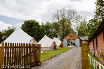 A village set up by Tinkers Bells consisting of bell tents