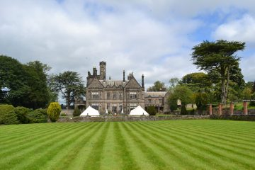 Large castle with Bell Tents for a wedding