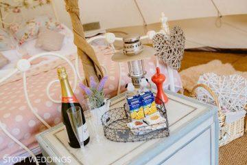 Bridal treats at a Bell Tent Wedding