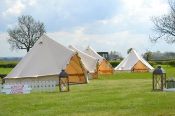 Bell Tents being used for a family and friends event