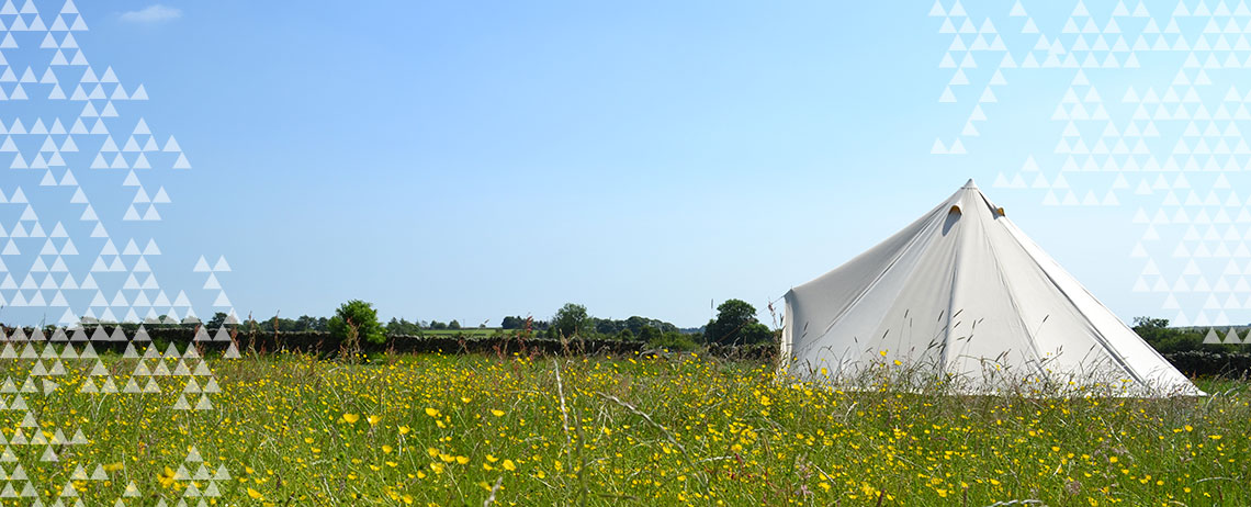 Our bell tent at a hen camp glamping experience