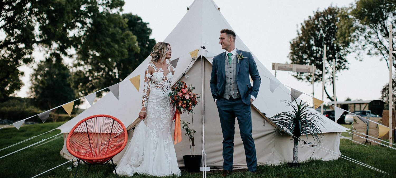 Bell Tent Hire for Festival, Boho, Outdoor and Tipi Weddings. Glamping Wedding accommodation.